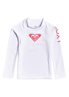 Roxy Whole Hearted Rashguard Swim Top (Toddler Girls, Little Girls & Big Girls)