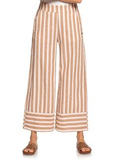 Roxy Wild Ideas Linen & Cotton Wide Leg Pants