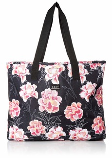 Roxy Wildflower Printed Large Tote Bag Anthracite Zilla s