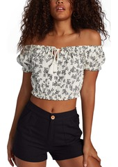 Roxy With the Sun Off the Shoulder Crop Top