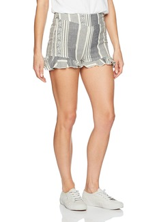 Roxy Women's All Perfect High Waisted Yarn Dyed Shorts  L