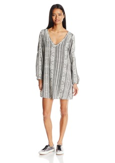 Roxy Junior's April Morning Long Sleeve Dress  L
