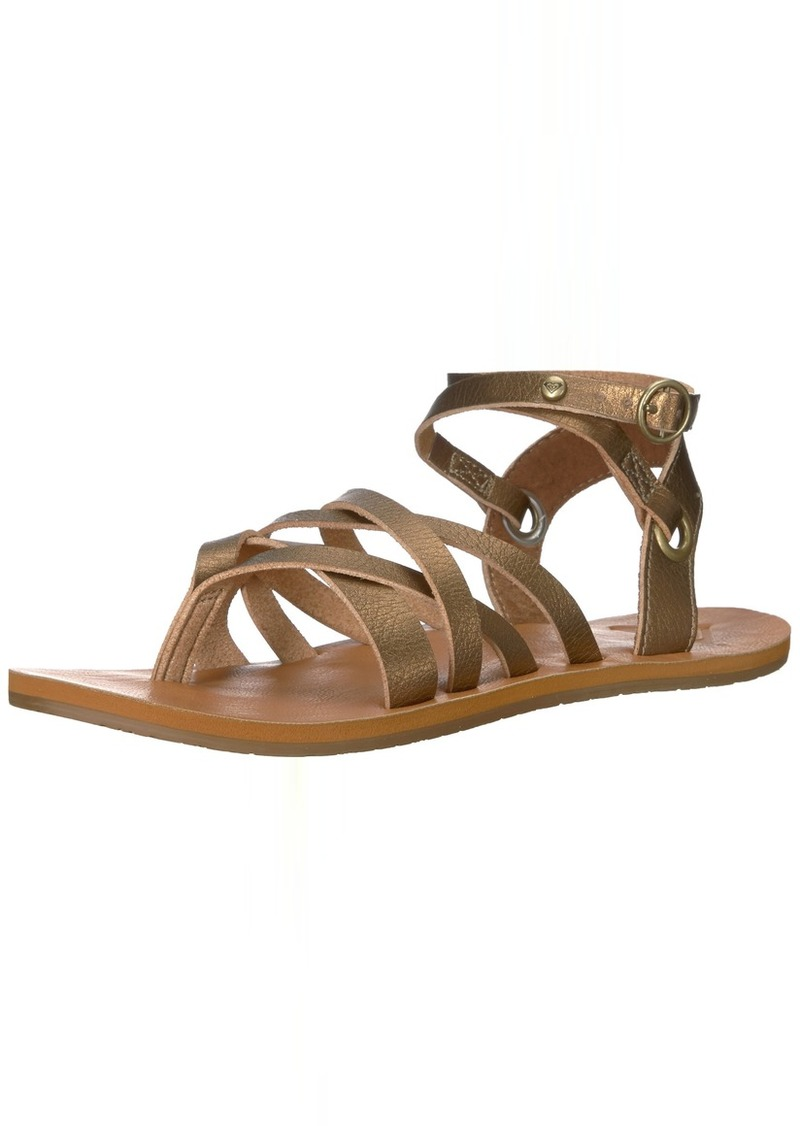 Roxy Women's Bailey Multi Strap Sandal Flat  9 M US