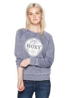 Roxy Women's Be Shore Pullover Crew Sweatshirt  L
