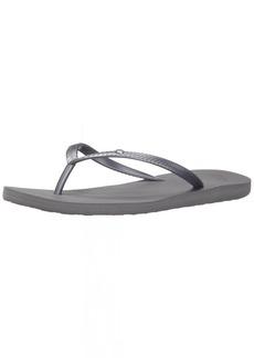 Roxy Women's Bermuda Sandal Flip Flop Flip Flop Silver 1  M US