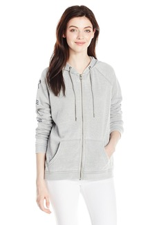 Roxy Women's Break Drop Hoodie a Zip-up Sweatshirt  L