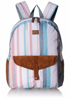 Roxy womens Carribean Backpack snow white retro vertical