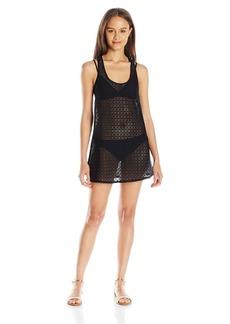 Roxy Women's Crochet Sporty 2 Coverup Dress  L