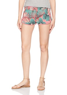 Roxy Women's Deepwater Ride Printed Fleece Shorts  XL