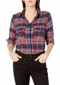Roxy Women's Dream in Blue Flannel Shirt  XS