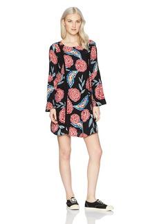 Roxy Women's East Coast Dreamer Long Sleeve Dress 2  L