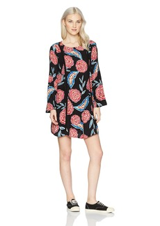 Roxy Women's East Coast Dreamer Long Sleeve Dress 2  XL
