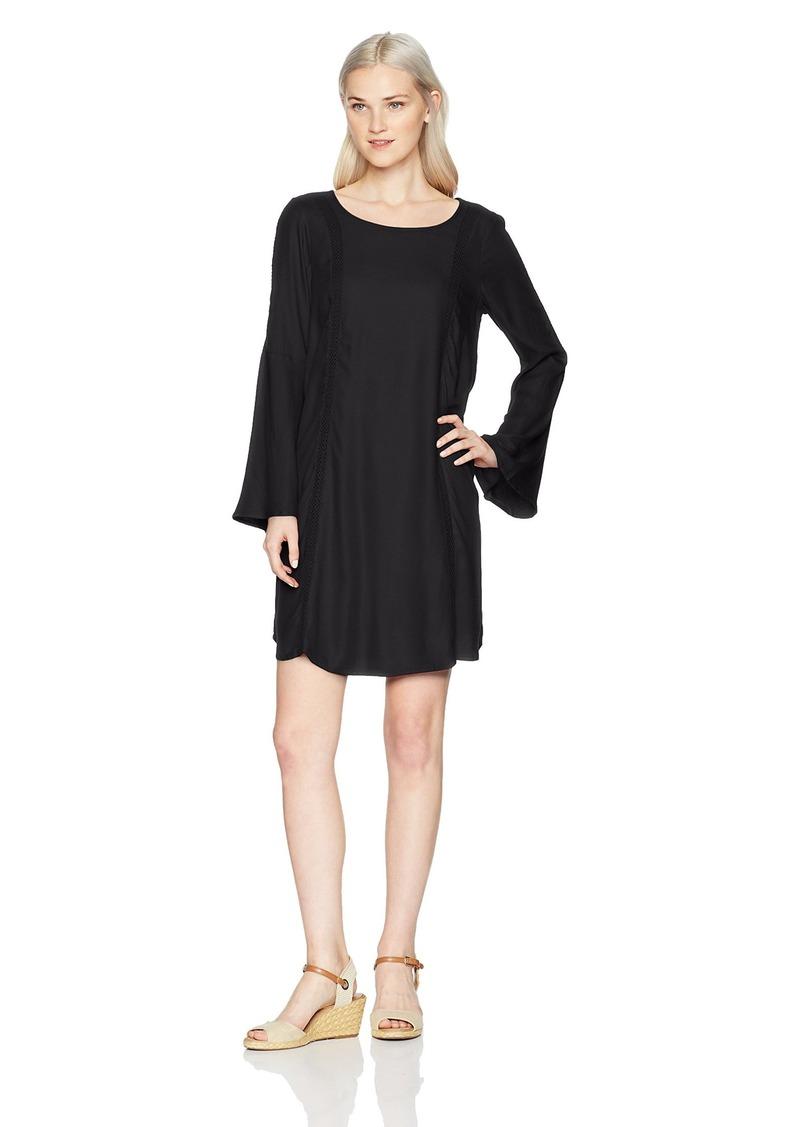 Roxy Women's East Coast Dreamer Printed Long Sleeve Dress  S