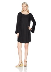 Roxy Women's East Coast Dreamer Printed Long Sleeve Dress  XL
