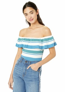 Roxy Women's Extra Tropical Love Off Shoulder Cropped Top  S