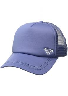 Roxy Women's Finishline Trucker Hat Bleached Denim ERJHA03320 1SZ