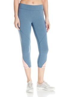 Roxy Women's Imanee Heather Capri Workout Pant Captains Blue L