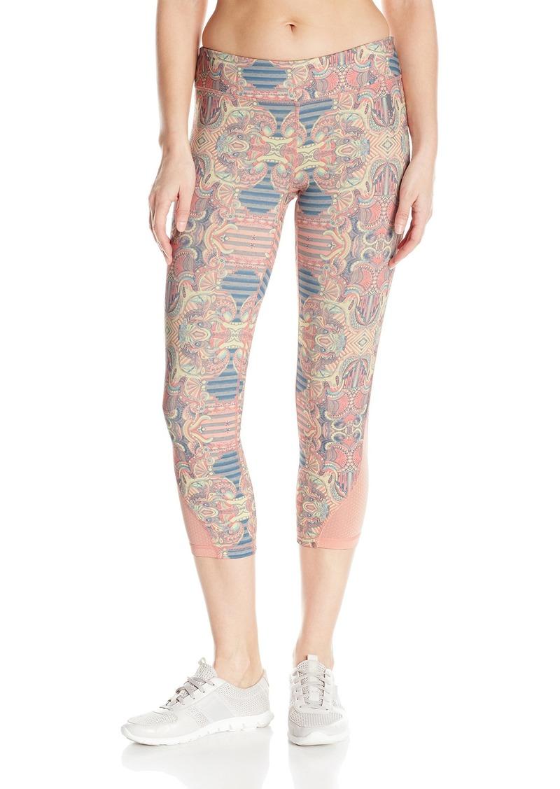ROXY Women's Imanee Printed Capri Workout Pant  XL