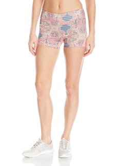 Roxy Women's Imanee Printed Tight Workout Short  M