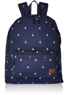 Roxy Women's Junior Sugar Baby Canvas Backpack Accessory -dress blue printed anchor