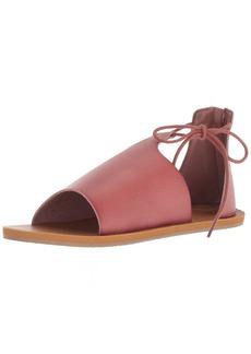 Roxy Women's Katya Gladiator Sandal Flat mauve wine  M US