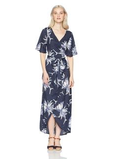 Roxy Women's Keep The Tempo Full Length Wrap Dress  L