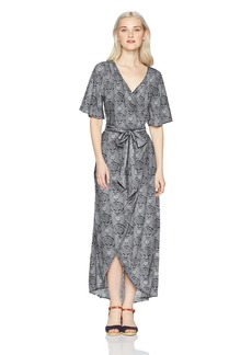 Roxy Women's Keep The Tempo Full Length Wrap Dress  XS