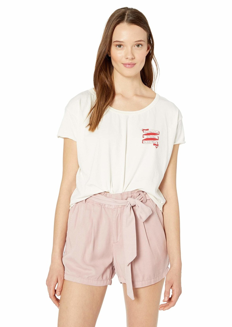 Roxy Women's Le Fun in Le Sun Cropped Boyfriend T-Shirt marshmallow M