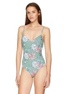 Roxy Women's Little Bandits One Piece Swimsuit Olive Swim House of The Sun S