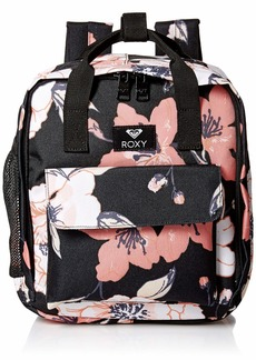 Roxy womens Little Journey Mini Lunch Sack Backpack anthracite sample new flowers 1SZ