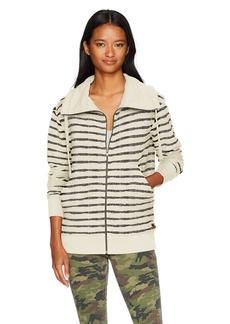 Roxy Women's Lunar Patrol Zip up Fleece Sweatshirt Anthracite Heather ERJFT03604 L