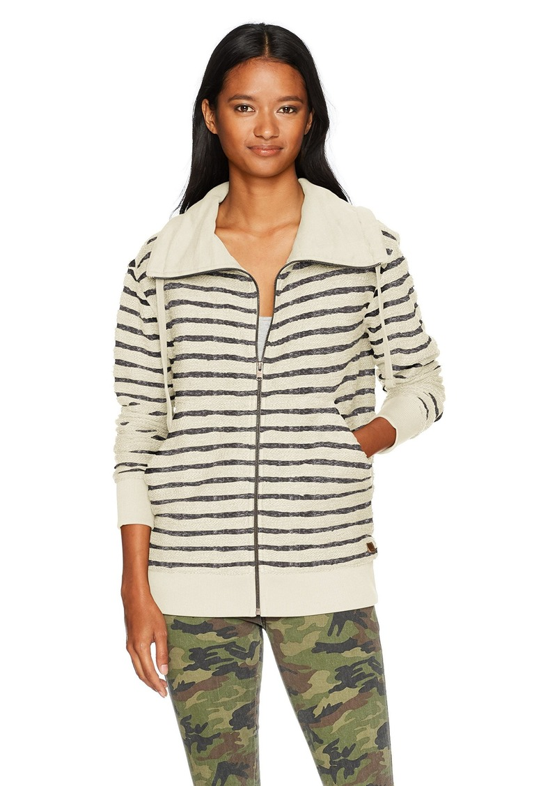 Roxy Women's Lunar Patrol Zip up Fleece Sweatshirt Anthracite Heather ERJFT03604 XL