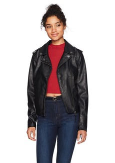 Roxy Women's Midnight Ride Faux Leather Jacket  L