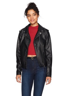 Roxy Women's Midnight Ride Faux Leather Jacket  S