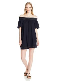 Roxy Junior's Moonlight Shadows Off The Shoulder Mini Dress  S