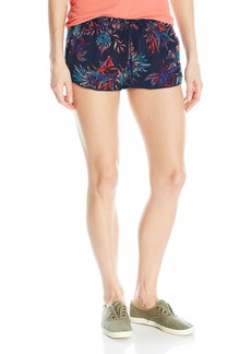 Roxy Women's Mystic Topaz Printed Woven Pull-on Beach Shorts  S
