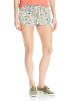 Roxy Women's Mystic Topaz Printed Woven Pull-on Beach Shorts  XL