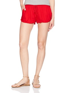 Roxy Women's Mystic Topaz Woven Pull-on Beach Shorts  XL