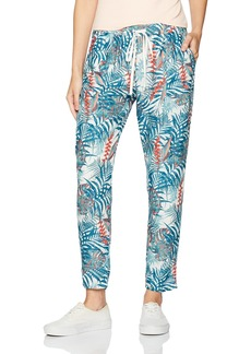 Roxy Women's Nomad Traveler Printed Pant Marshmallow JUNGLY Flowers ERJNP03123 XL