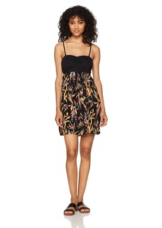 Roxy Women's Ocean Romance Dress Anthracite Joli Jardin ERJWD03147 XS