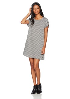 Roxy Women's Peak Moments Striped Dress Anthracite Three Lines Stripes ERJWD03169 XS