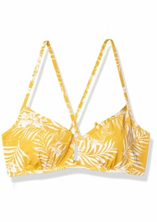 Roxy Women's Print Beach Classics Bralette D Cup Swim Top  L
