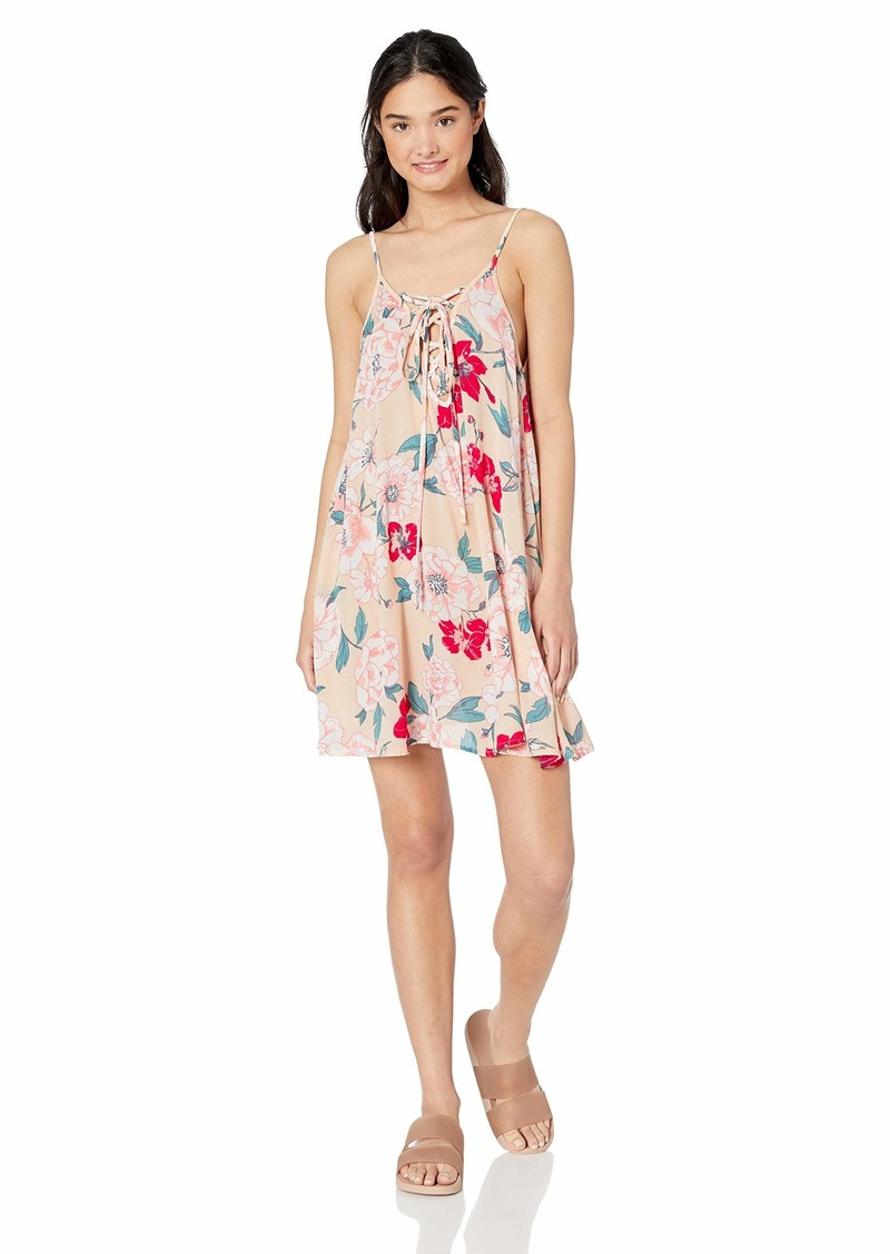Roxy womens Softly Love Print Cover Up Dress  L