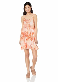 Roxy womens Softly Love Print Cover Up Dress  M