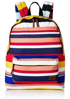 Roxy Women's Sugar Baby Canvas Backpack Marshmallow la Super Stripe 1SZ
