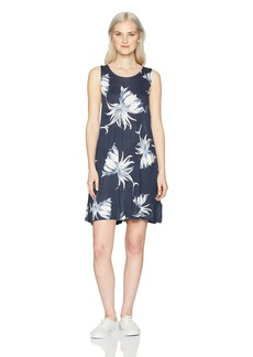 Roxy Women's Sugar Space Tank Dress Blue CADAGUES Flower M