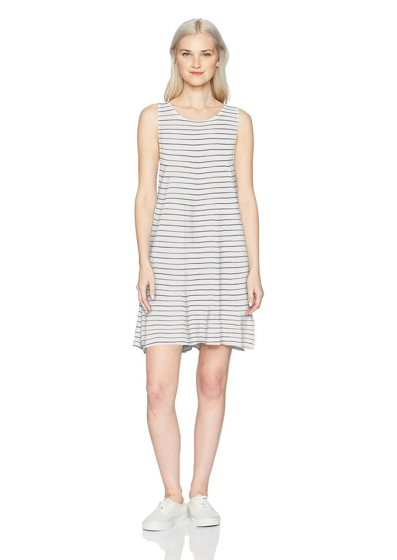 ROXY Women's Sugar Space Tank Dress Marshmallow IRREGULARY Stripe XL