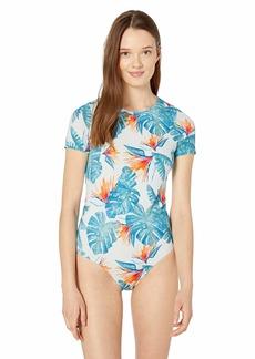Roxy Women's Summer Delight Short Sleeve One Piece  XL
