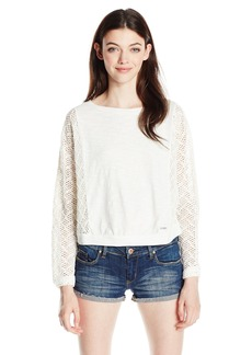 Roxy Junior's Talk to Me Lace Long Sleeve Top  S