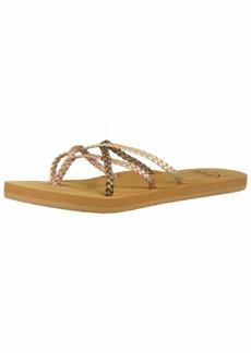 Roxy Women's Trinn Strappy Flip Flop Sandal   M US